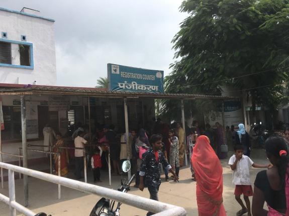 Registration at district hospital - India